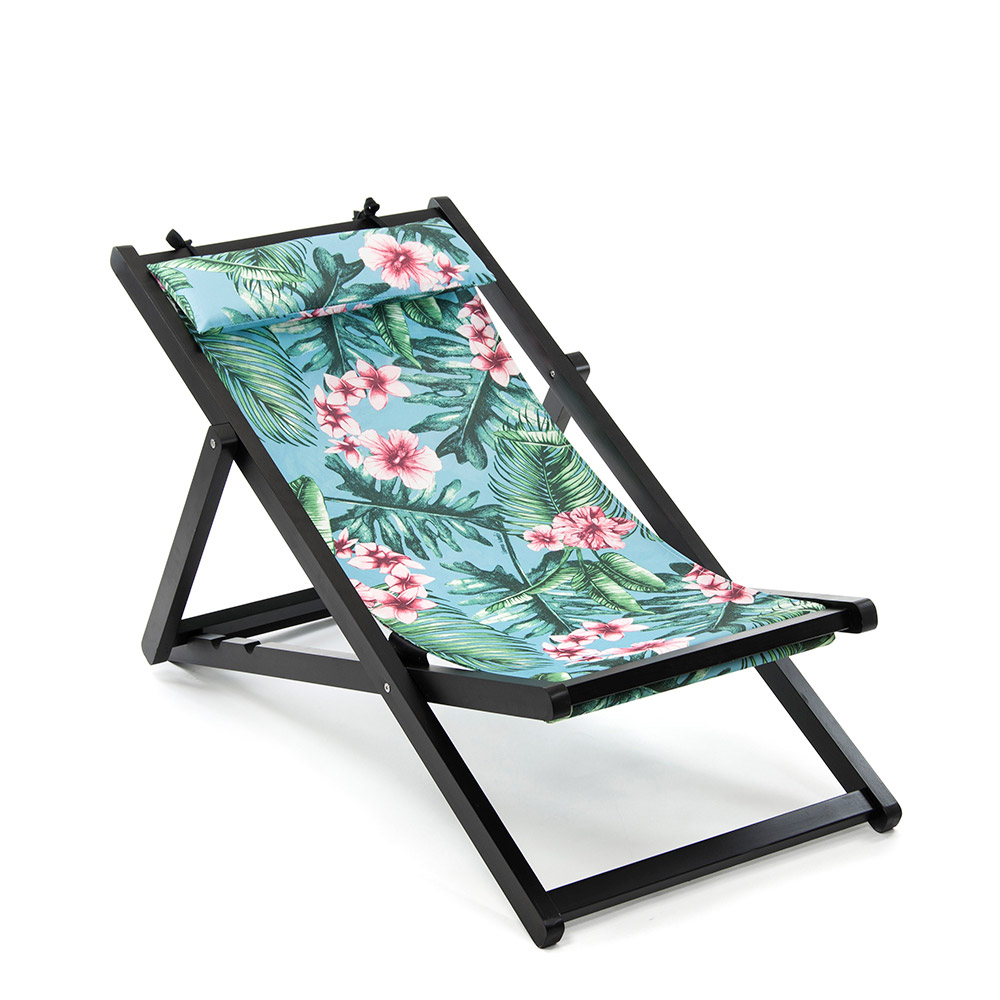 floral canvas folding deck chairs. Black Bedroom Furniture Sets. Home Design Ideas