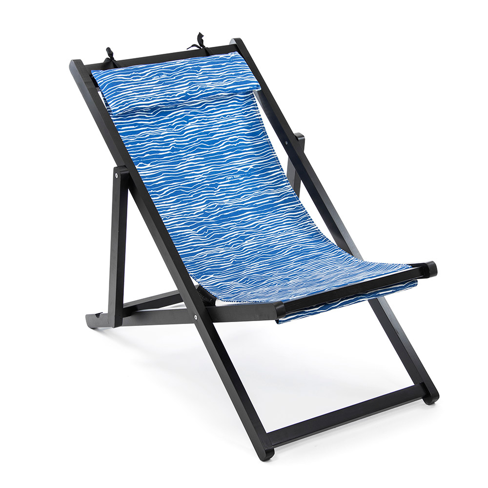 folding deck chairs blue canvas vienna woods. Black Bedroom Furniture Sets. Home Design Ideas