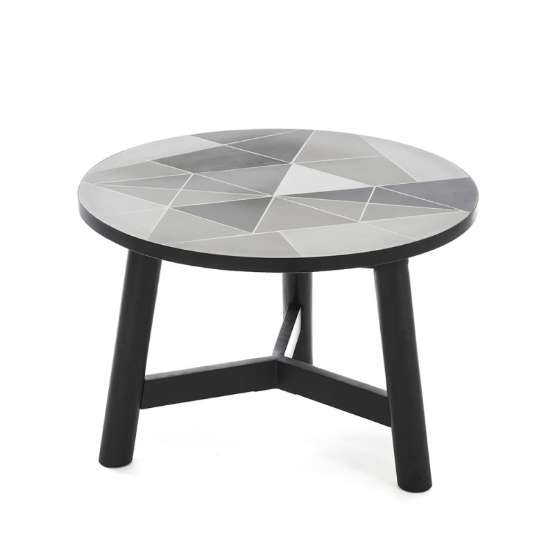 round outdoor designer coffee table