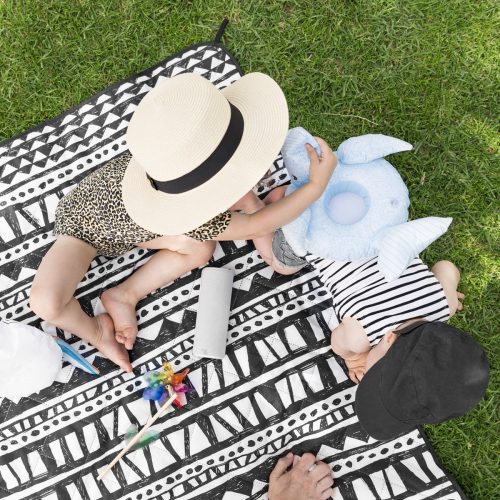 Black and White Geo Picnic Rug