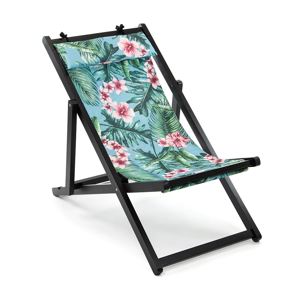 Floral Canvas Folding Deck Chairs