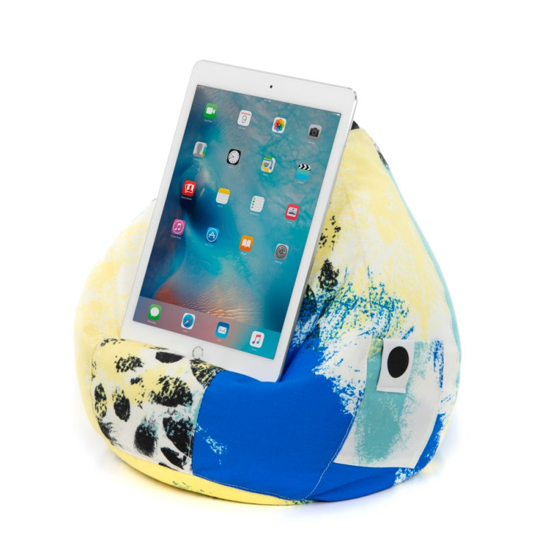 Blue & Yellow iPad Cushion